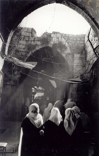 Women in a Gaza City suq